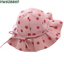 Summer Baby Girls Hats Girls Sun Hat Cotton Baby Hat with bowknot Fashion Infant Hat Toddlers Baby Girl Caps girls baby girl palm print swimsuit with hat