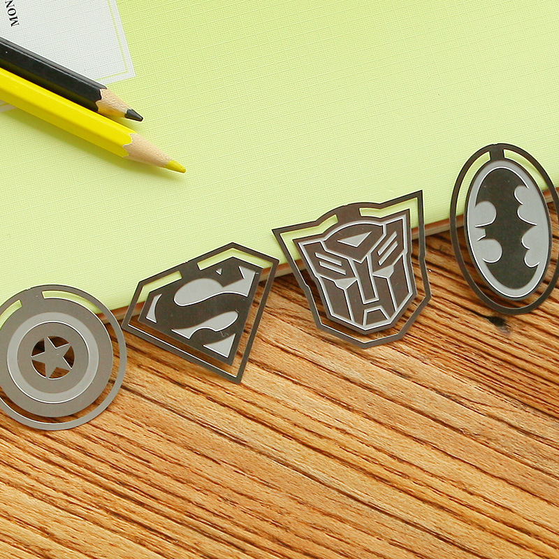 Creative Cartoon Metal Book Markers Bookmark For Books Paper Clips Bookmark Gift Stationery Office S
