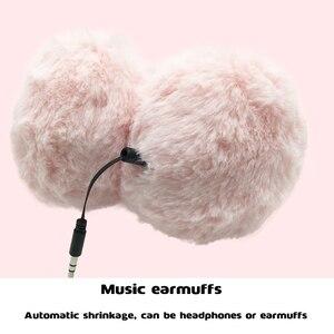 Image 5 - Crianças fones de ouvido bonito dos desenhos animados fone de ouvido para o telefone mp3 tablet pelúcia música quente fone de ouvido para o miúdo adulto 3.5mm com fio