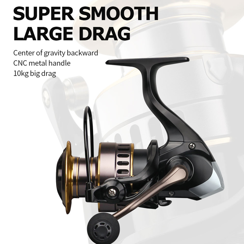 2020 Fishing Reel HE7000 Max Drag 10kg 5.2:1 High Speed Metal Spool Spinning Reel Saltwater Reel Carp Reel Fishing Hot Sale