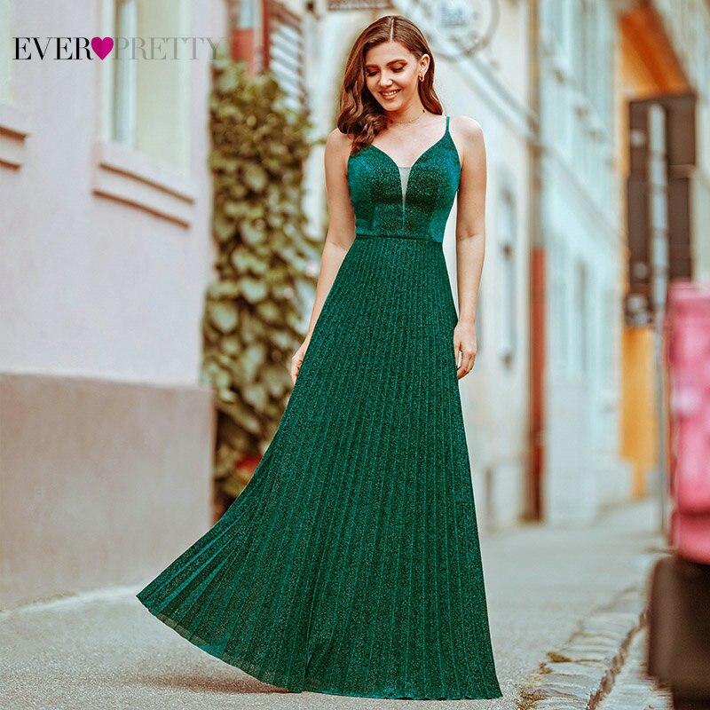 Everpretty Abendkleider Elegante EINE Linie V-ausschnitt Spaghetti Drapierte Celebrity Kleider Formale Party Kleider Für Frauen Vestidos