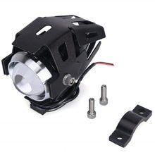 цена 2Pcs U5 Motorcycle LED Headlight Driving Fog Light Super Bright External Spot Bulb Lamp