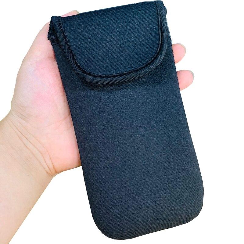 Para apple iphone 12 pro elástico macio bolsa de manga saco do telefone capa para iphone 12 pro max 11 xs xr x 8 plus 7 6 casos