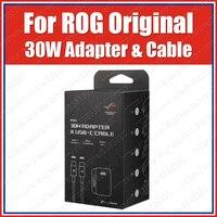PowerSafe APWU002 QC4.0 PD3.0 ROG Telefone 2 30W Adaptador do Carregador DA UE Cabo 120 CENTÍMETROS 11 USB C V 3A|Carregadores de celular|Telefonia e Comunicação -