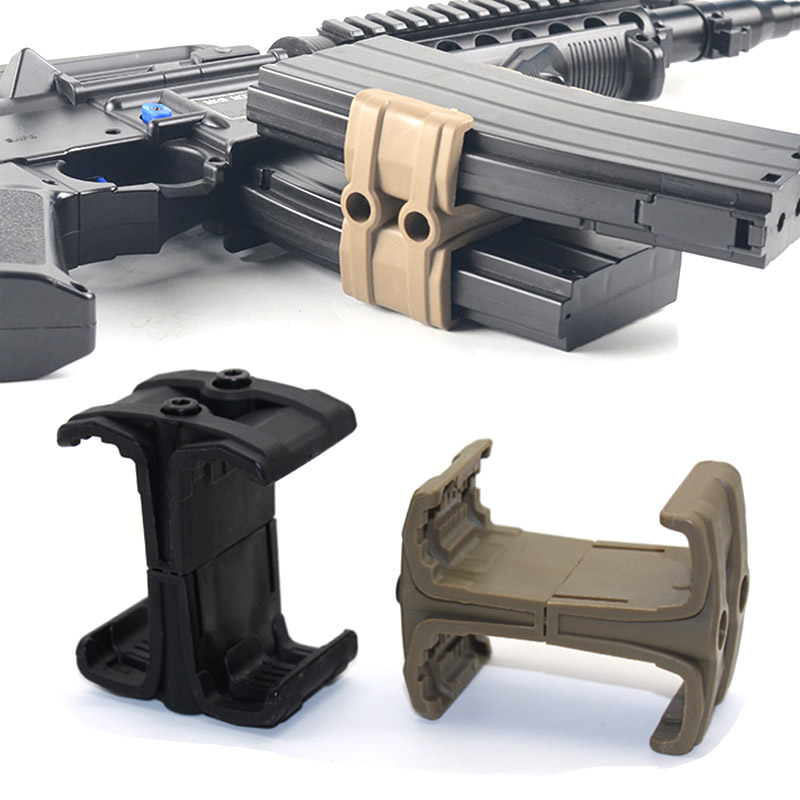 Tactical Rifle Gun Magazine Parallel Connector Double Mag Coupler Connector Clip Airsoft Hunting Accessories for M4 AR-15 MAG59 image
