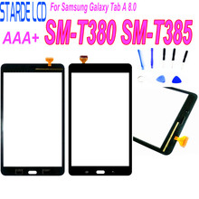 1Pcs For Samsung Galaxy Tab A 8.0 (2017 Version) SM-T380 T385 T380 Touch Screen Digitizer Front Glass Panel Replacement+Adhesive цена и фото