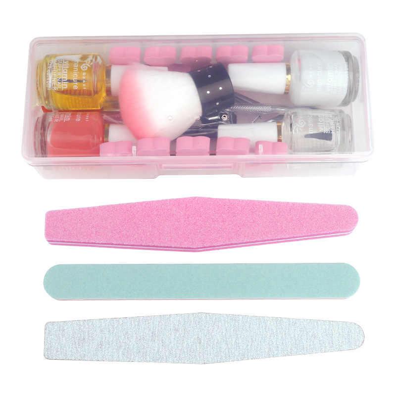 Juego de Herramientas de uñas de manicura varias piezas de plástico para lijar el juego de reparación de esmalte de uñas para eliminar las herramientas de manicura de la piel muerta conjunto