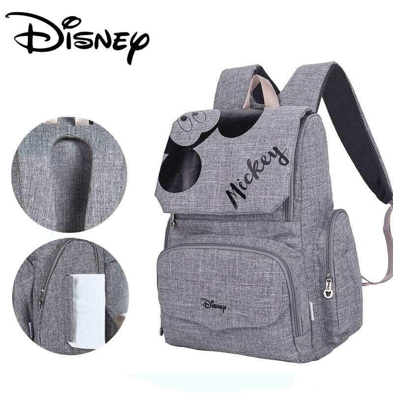 Disney Fashion Maternal Baby Diaper Bag For Mummy Mickey Minnie Diaper Backpack Stroller Bag Mickey Handbags Maternity Backpack