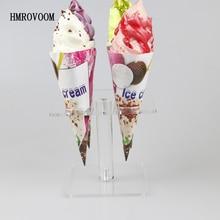 Акриловая конусная стойка для мороженого с 4 держателями HMROVOOM/акриловая подставка для мороженого