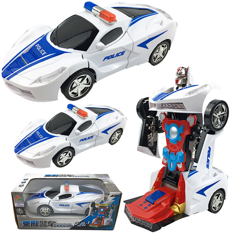 Small Xing Children Transformer Toy Car Electric Automatic Transformation Car Universal Light And Sound Transformation Toy