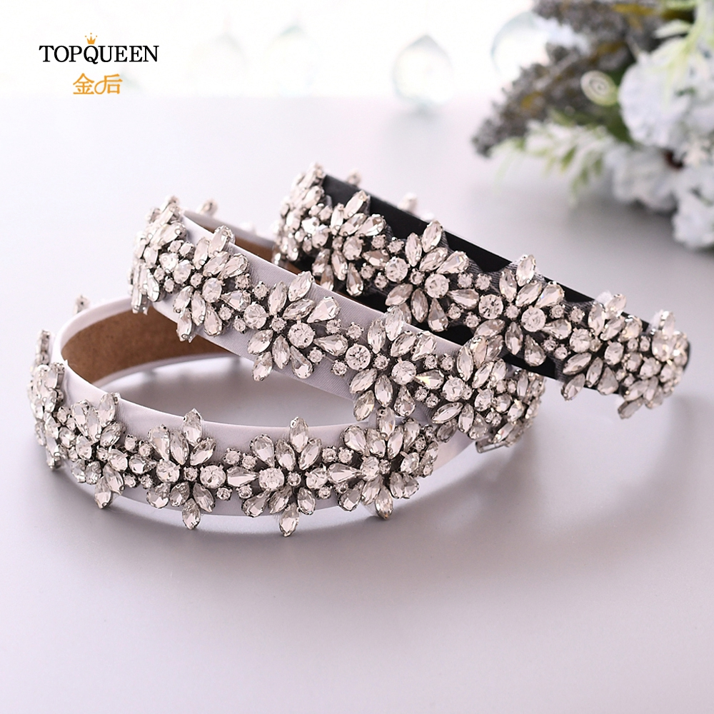 TOPQUEEN S269-FG Wedding Rhinestone Hair Accessories Bridal Tiara Headpieces Baroque Headband Wedding Hair Jewelry