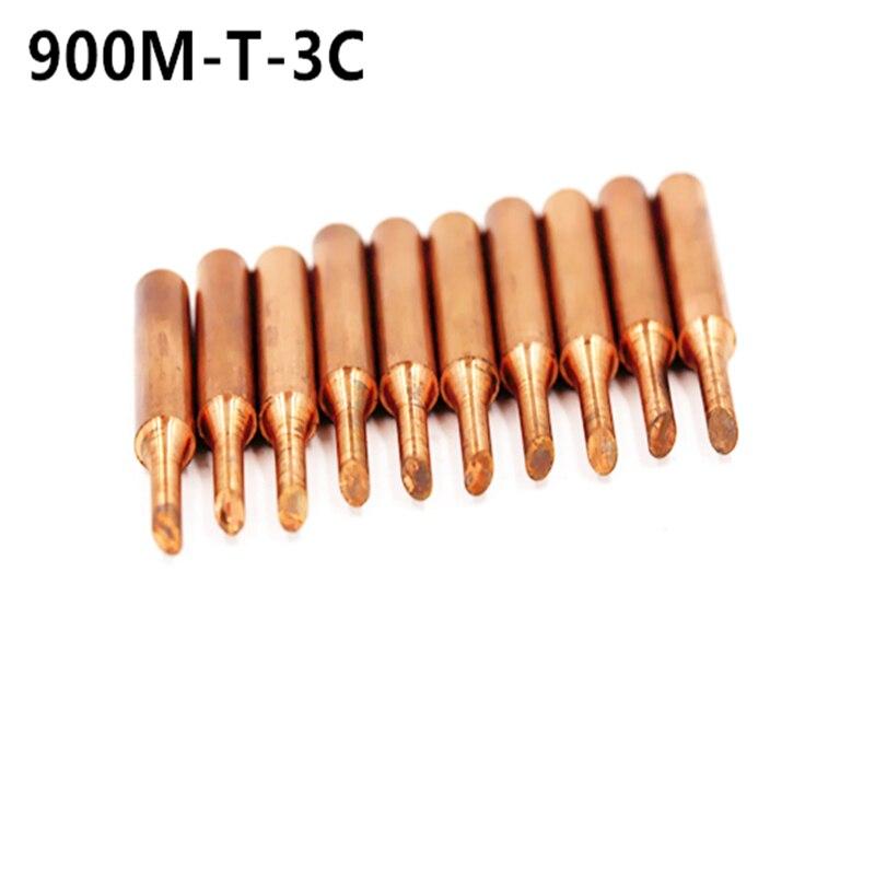 SZBFT 900M-T-3C Diamagnetic Copper Soldering Iron Tip Lead-free Solder Tip 933.376.907.913.951,898D,852D+ Soldering Station