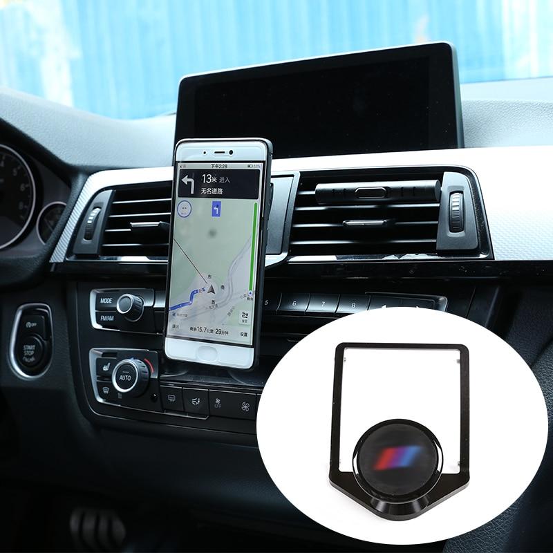 CHEYA 3 Colours Car Air Vent Mobile Phone Holder Trim for BMW 3 4 Series GT F30 F30 F34 F32 F33 F36 2013-2019 Black