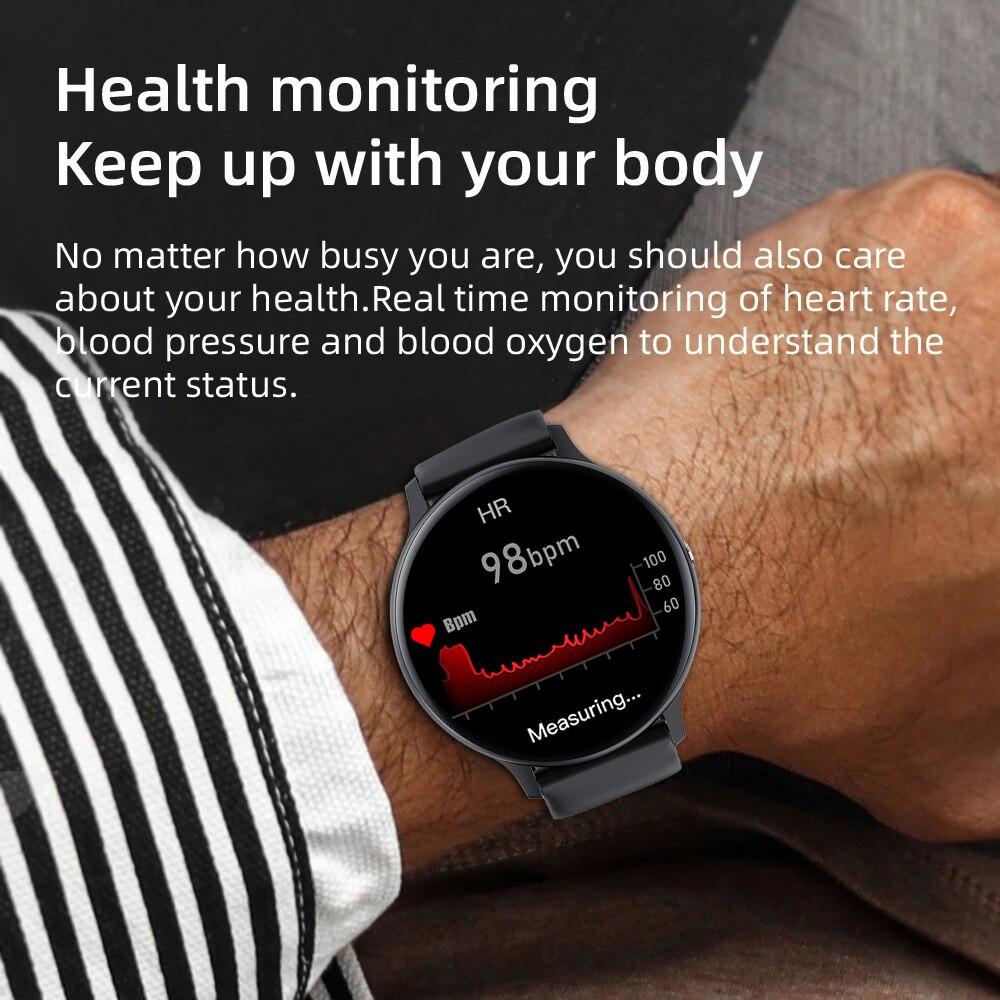 Смарт-часы LIGE с Bluetooth для мужчин и женщин, спортивный фитнес-трекер с пульсометром, для Android, IOS, Xiaomi, Huawei 3
