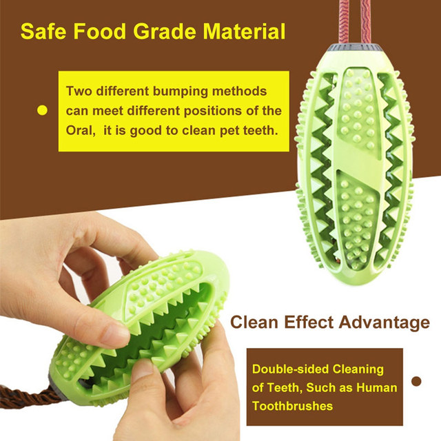 Dog Interactive Natural Rubber Ball Puppy Chew Toy Food Dispenser Ball Bite-Resistant Clean Teeth Pet Playing Balls Pet Dog Toys  My Pet World Store