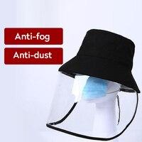 Multi função tampão protetor anti nevoeiro máscara de poeira removível anti-saliva proteção para os olhos capa protetora caps pescador buckaet sun hat