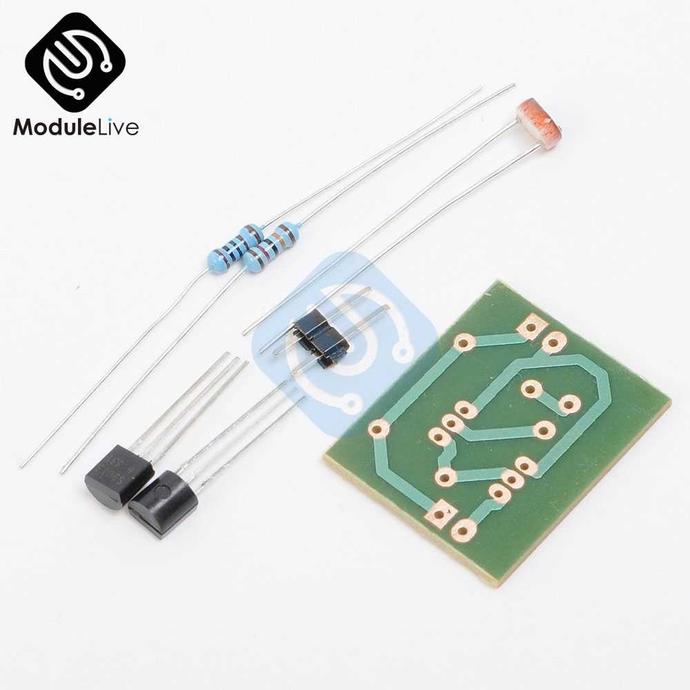 Capteur De Contrôle De lumière Commutateur Photosensible Interrupteur À Induction Électronique Formation Circuit Intégré Suite kit de bricolage Module