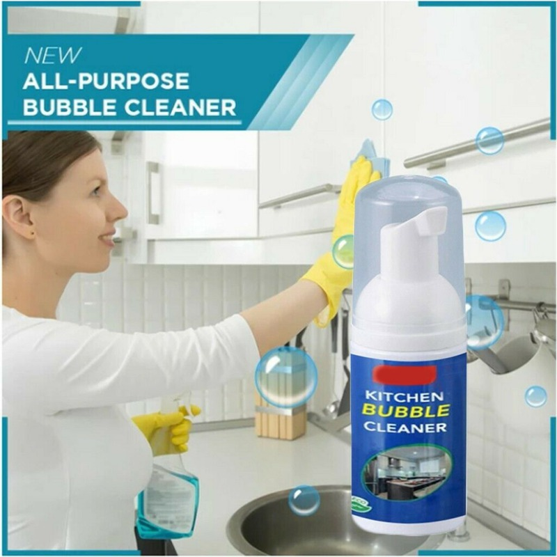 30ML Kitchen Cleaning Foam Multi purpose Remove Grease Dirt Rust Foam Cleaner Strong Cleaning Spray Rust Remover|All-Purpose Cleaner| |  -