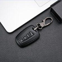 Матовое углеродное волокно ABS Силиконовый чехол для ключей для Hyundai Santa Fe Grand ix45 Centennial Genesis 3/4 кнопки дистанционного ключа