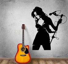 Gorąca seksowna strona główna mikrofon mikrofon mikrofon Karaoke naklejki ścienne do salonu mural H744
