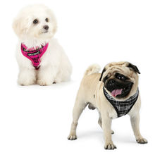 Bichon Teddy Adjustable Suspender Strap Vest Style Dog Nursing Chest And Back Traction Hot Models Classic Plaid Chest And Back(China)