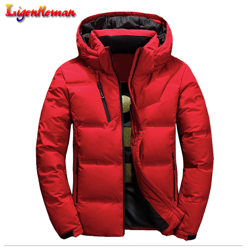 Mens New 2019 Winter High Quality Thermal Thick Coat Men Casual Hooded Jackets Male Slim Short Jacket Men Zipper Jacket