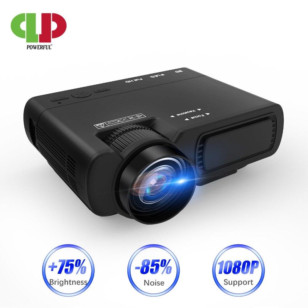 """Poderoso T5 mini proyector soporte 720P 170 """"HD LED proyector de cine en casa Compatible con TV palo PS4 HDMI VGA TF AV y USB"""