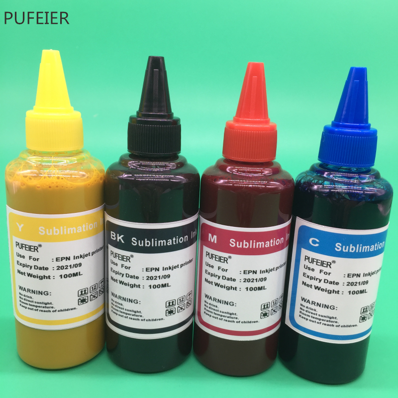 4 Color X 100ML Universal Sublimation Ink For Epson Desktop Inkjet Printer BK C M Y High Quality