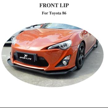 carbon fiber Front Lip Bumper Spoiler For Toyota GT86 FT86 Front Bumper Body Kits Car Styling image