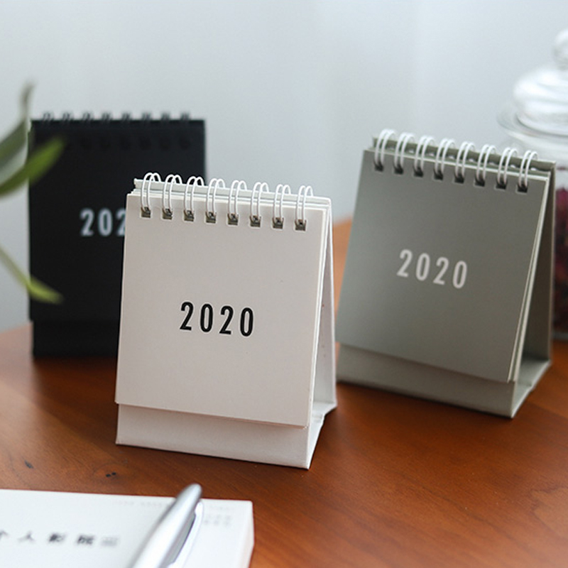 2020 Table Calendar Weekly Planner Monthly Plan To Do List Desk Calendar Daily Simple Style Desktop Calendar DIY Memo Pad Supply