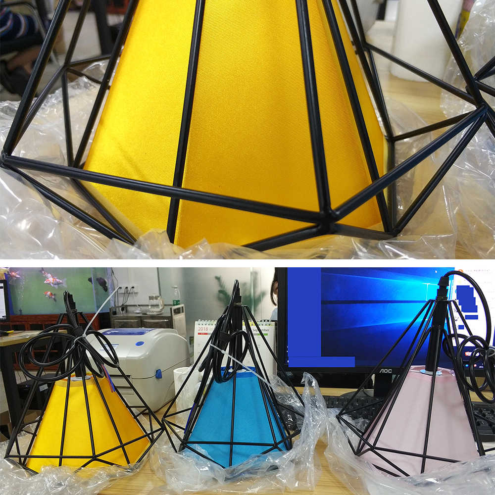 modern black birdcage pendant lights iron hanglamp metal Led pendant lamp loft decor vintage light for dining room ZDD0001