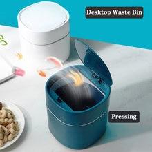 Universal Desktop Waste Box Bin Trash Can Car Storage Bucket Accessories With Lid Garbage Bin Nordic Style Living Room Office 2L