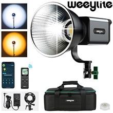 Bicolor Weeylite Ninja200 60W COB LED Luz de Vídeo com Controle de Aplicativo de Saída Contínua Luz 2800K ~ 8500K Bowens Monte Estúdio Luz
