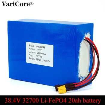 38.4V 32700 LiFePO4 battery pack 25A discharge maximum 60A discharge electric vehicle Rechargeable batteries XT60 Plug