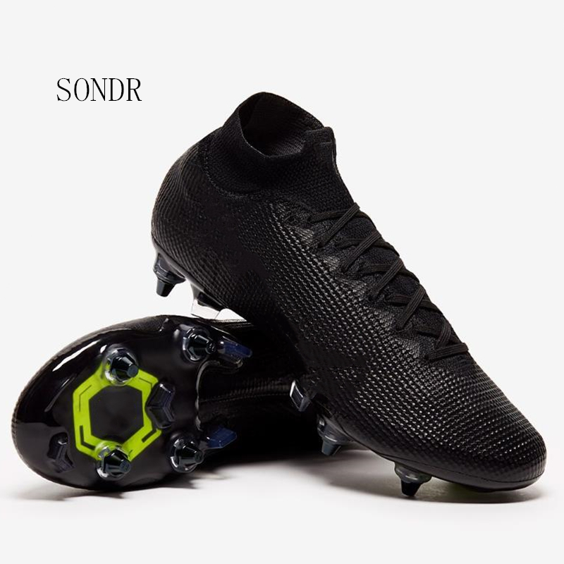 Sneakers Men Football Shoes Soccer Cleats Boots Long Spikes SG Spikes Sneakers Soft Indoor Turf Futsal Soccer Shoes 2020