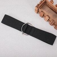 Las mujeres de banda elástica, cinturón, pantalones las mujeres cinturón de hebilla ajustable cintura alta calidad diseñador marca ocio cinturones