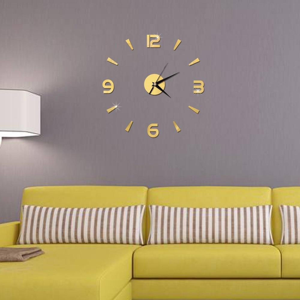 2019 New 3D Wall Clock Mirror Wall Stickers Fashion Living Room Quartz Watch DIY Home Decoration Clocks Sticker reloj de pared 8