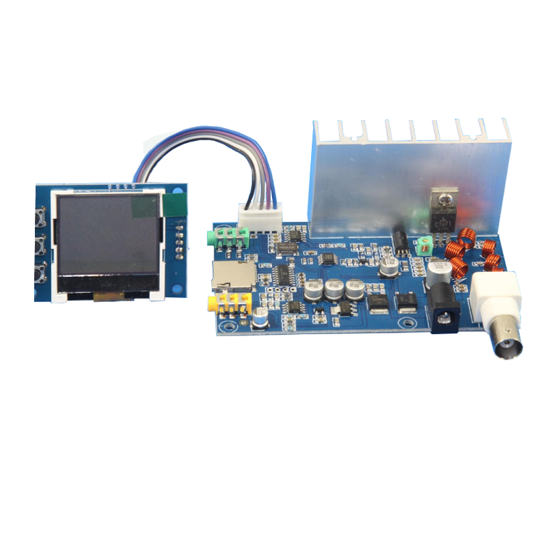 Diy Kits 5W-7w FM Transmitter Radio Station PLL Stereo Digital Frequency KITS + Lcd Digital Display SMD Soldered Already