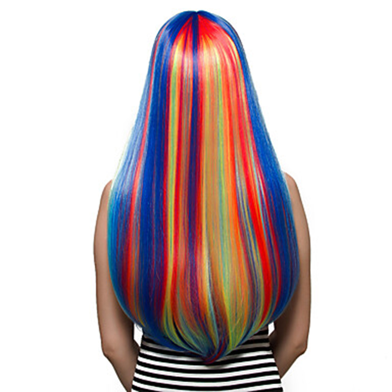 Image 5 - HAIRJOY  Synthetic Hair Womens Cosplay My Little Pony Rainbow Dash Multi Color Heat Resistant Party Wig Free Shippingwigs freewigs free shippingwig wig -