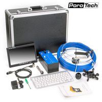 H1 Keyboard counter Snake Video Endoscope Camera Pipe Drain Sewer Well Wall Underwater Inspection Camera System Monitor 20M 50m