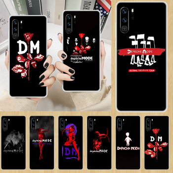 Depeches band Mode rock Phone Case hull For HUAWEI p 8 9 10 20 30 40 smart Lite 2017 19 Pro Z transparent waterproof painting image