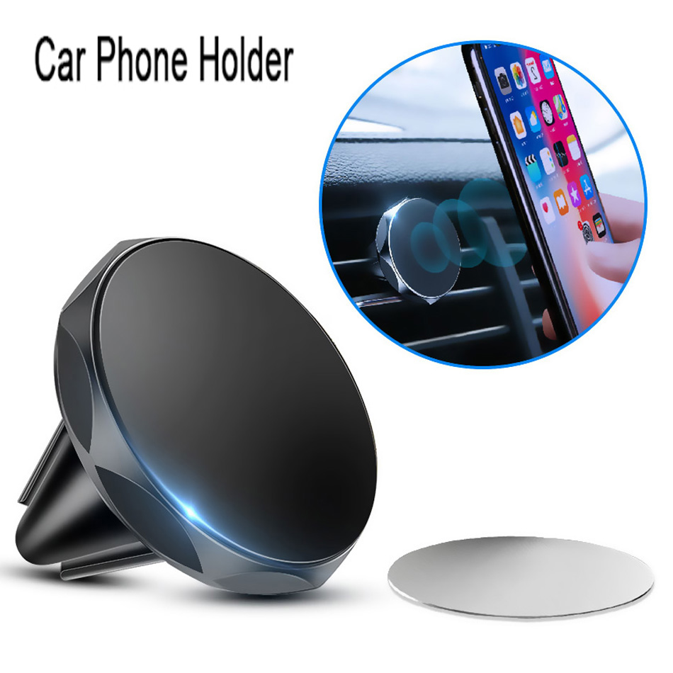 Universal Magnetic Car Phone Holder Stand For Iphone 11 Pro Max Air Outlet Magnetic Mobile Phone Bracket For Samsung S10 Plus