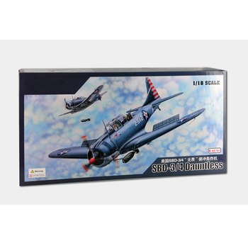 Merit 61801 1/18 SBD-3/4 Dauntless Dive Bomber Early/Late Version Fighter Plane Aircraft Airplane Toy Plastic Assembly Model Kit trumpeter 1 48 scale us c 47a c 48c skytrain transport plane airplane aircraft toy plastic assembly model kit