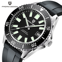 PAGANI DESIGN-Reloj de pulsera mecánico de lujo para hombre, zafiro, movimiento NH35A, 100M, impermeable, Mekaniska klockor