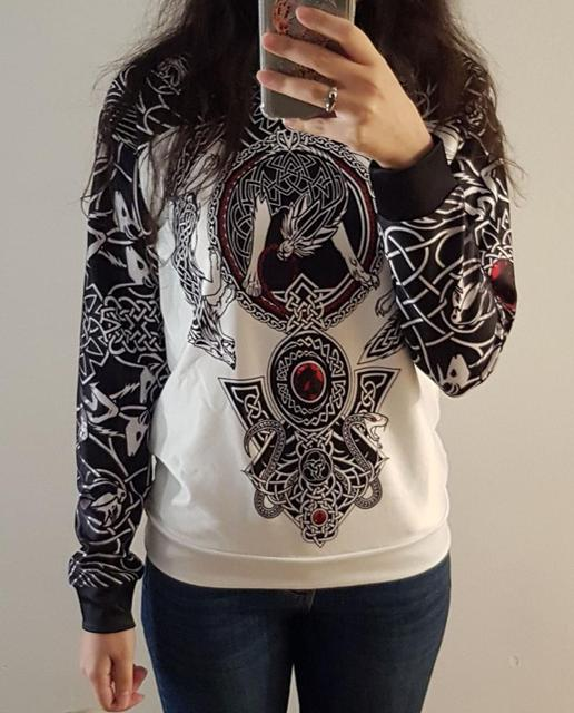 3D Viking Tattoo All Over Printed Unisex Hoodie 3