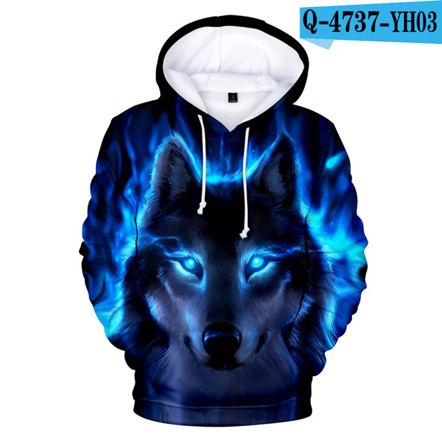 Adult And Child Size Personality Hoodies Wolf Sweatshirts Skull Clothing Men's High Quality Brand 3D Kids Hoodie Autumn Winter