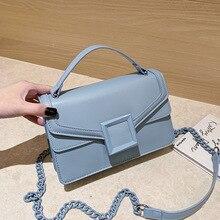 Fashion Solid Chain PU Leather Handbags Women Crossbody Bags 2020 New Ladies Designer Shoulder Messenger Bags Female Purses