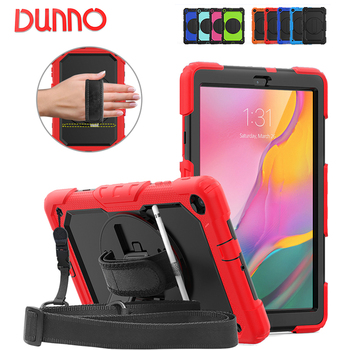 Samsung Tablet Case Stand For Funda Tablet 2019 Samsung Galaxy Tab A 10.1 SM-T510 T515 Tablette Cover Rotate Hand Strap
