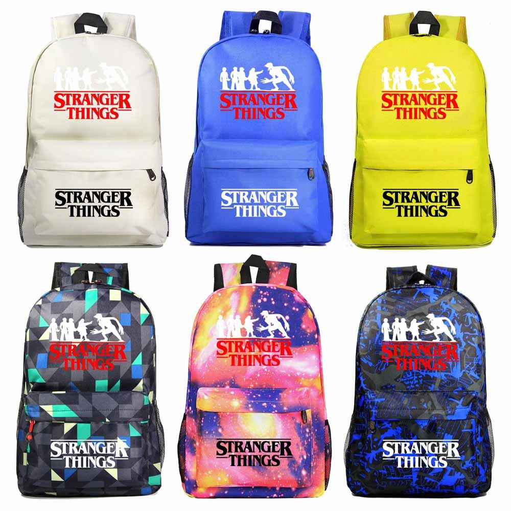 Hot Stranger Things Star Schoolbag Boys Girls Backpack School Book Bag Gift