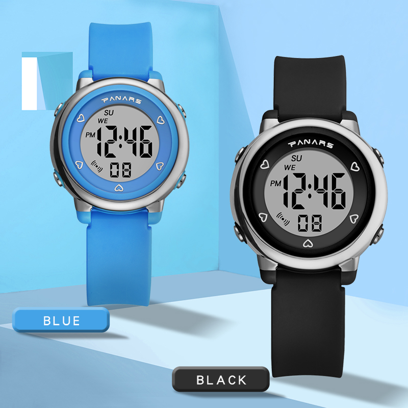 Fashion Kids Students Digital Watch For Boys Girls 50M Waterproof Sport Luminous Dial Children Led Clock Alarm Wristwatches Gift